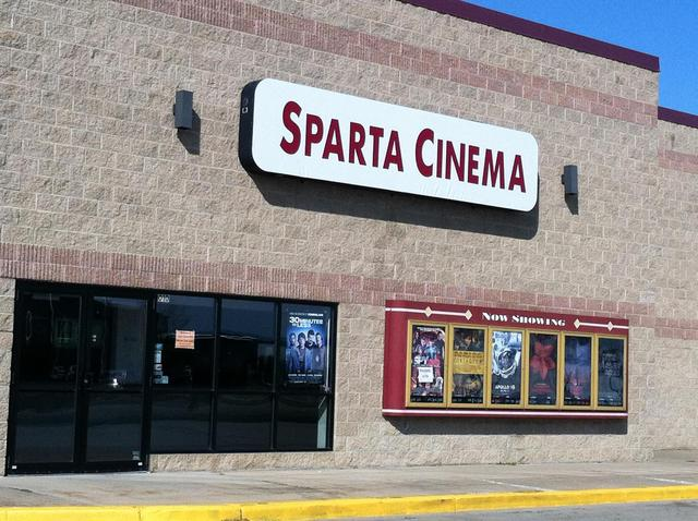 This is the facade of the Sparta Cinema!