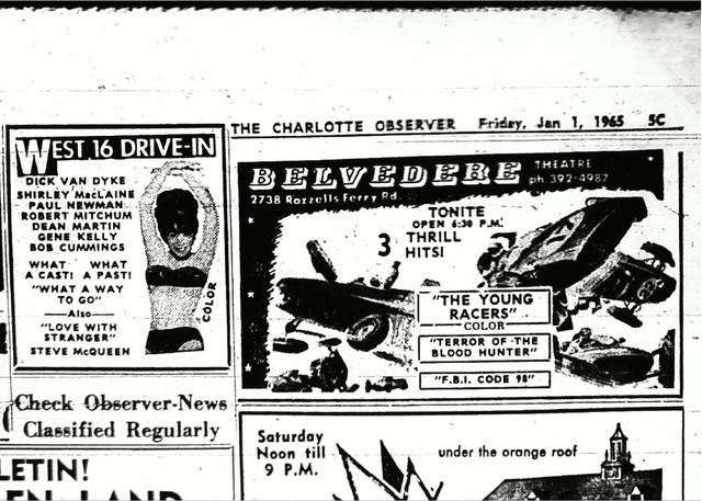 Belvedere Theatre - Observer Ad 1965