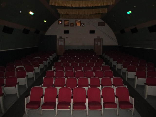 The movie auditorium.
