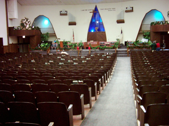 Center Aisle - Open Door Chapel (Princess Theater)