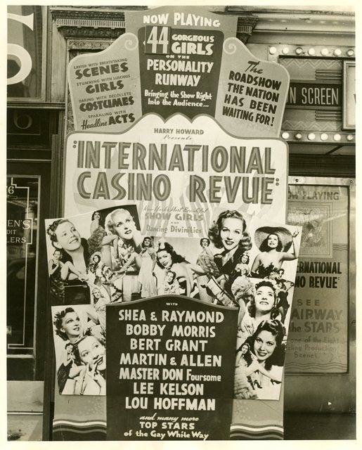 Poster outside State Lake Theater 1940