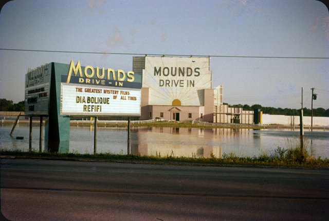 Mounds Drive In After Flood of June 15, 1957