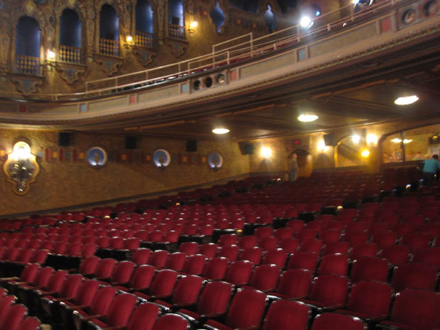 Palace Theatre, Canton, OH - Orchestra Section from front corner