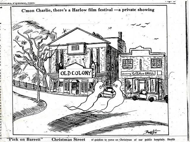 Cartoon in Old Colony Memorial weekly