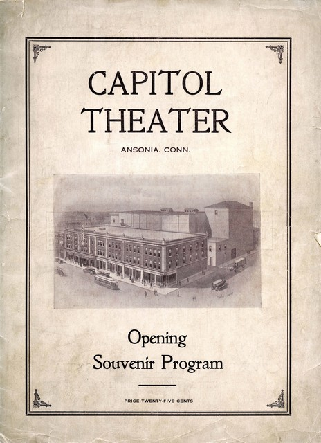 Souvenir Program from Opening  December 28, 1920