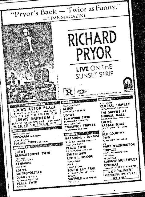 """Richard Pryor Live on the Sunset Strip"" (1982)"