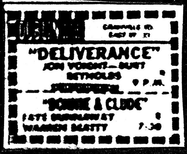"""""""Deliverance""""/""""Bonnie & Clyde"""""""