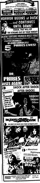"""Dr. Phibes Rises Again!""/""Dr. Jekyll and Sister Hyde""/""The Vampire Lovers""/""Brides of Blood""/""Night of the Living Dead"""