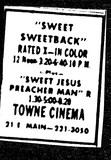 """""""Sweet Sweetback""""/""""Sweet Jesus Preacher Man"""""""