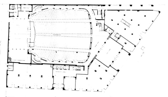 Riverside Theatre, Milwaukee - Floor Plan