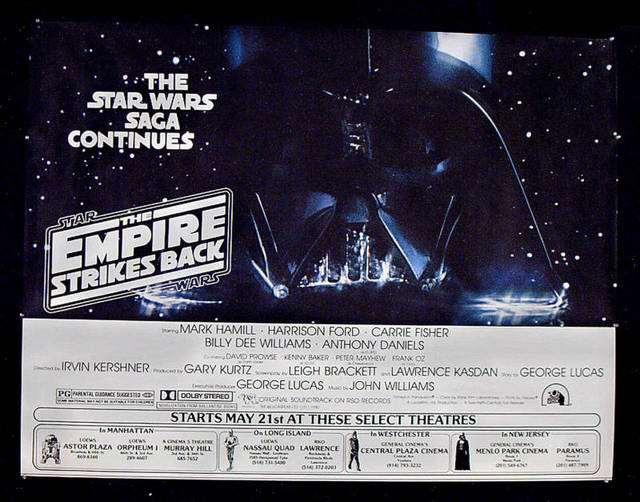 """The Empire Strikes Back"" Exclusive Engagement Poster."
