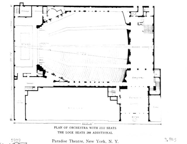 Paradise Theatre, Bronx - Floor Plan