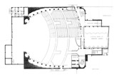 Fox Theatre, Detroit - Balcony Level Plan