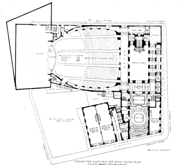 Metropolitan (Wang) Theatre, Boston - Main Floor Plan