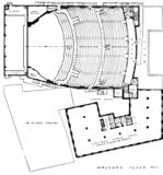 Metropolitan (Wang) Theatre, Boston - Balcony Level Plan