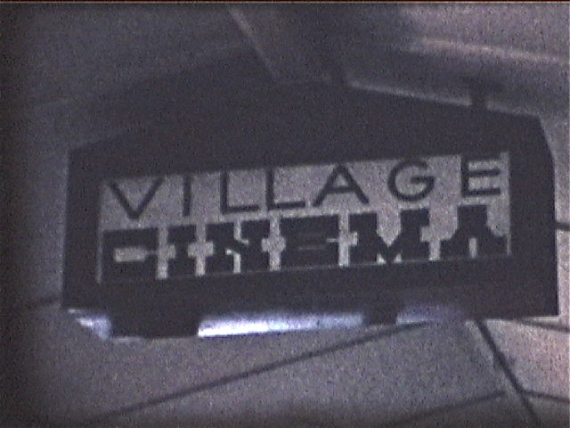 BRIARCLIFF VILLAGE THEATRE marquee in courtyard of shopping center in front of theatre