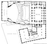 Metropolitan (Wang) Theatre, Boston - Mezzanine Level Floor Plan