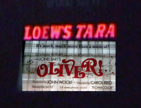 OLIVER! marquee at the LOEWS TARA in Atlanta Georgia