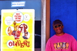My buddy next to the poster for OLIVER! at the Beverly Theater