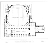 Paramount Theatre, New York: Orchestra Level Floor Plan