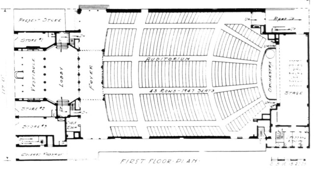 State theatre, Philadelphia - Floor Plan