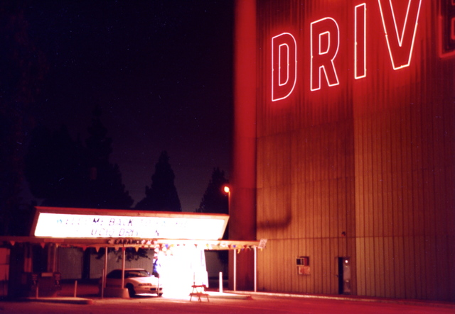 Entrance to the STUDIO DRIVE IN MOVIE THEATRE
