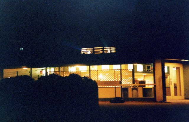 NORTH 85 DRIVE IN THEATRE concession stand at night