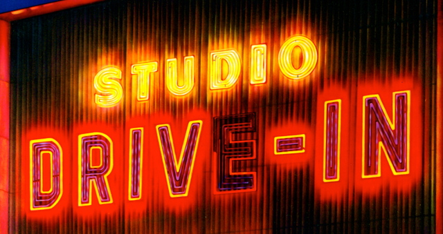 STUDIO DRIVE IN THEATRE in Culver City NEON SIGN