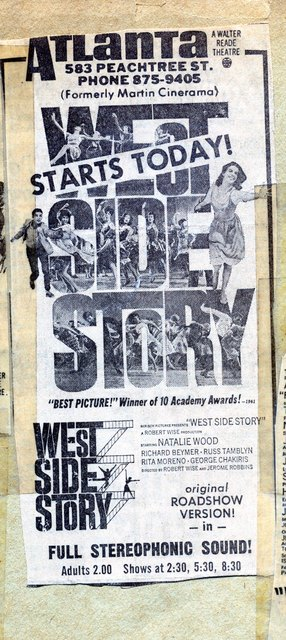 WEST SIDE STORY at the ATLANTA theatre (formerly Martin Cinerama)