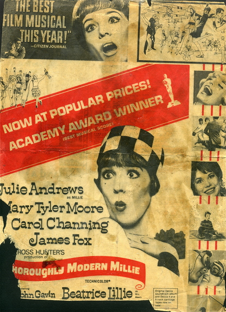 THOROUGHLY MODERN MILLIE ad at the VILLAGE THEATRE Tucker, Ga