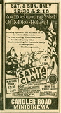 SANTA CLAUS ad at CANDLER ROAD mini cinema in Atlanta, Ga