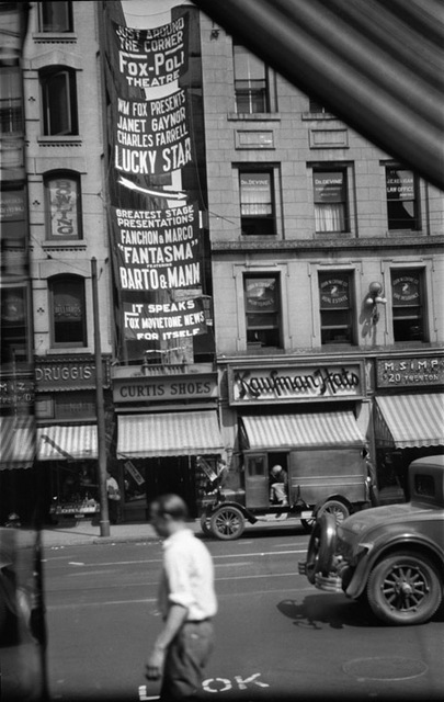 Banner advertising the show at the Fox-Poli Theatre, Springfield, MA - 1929.