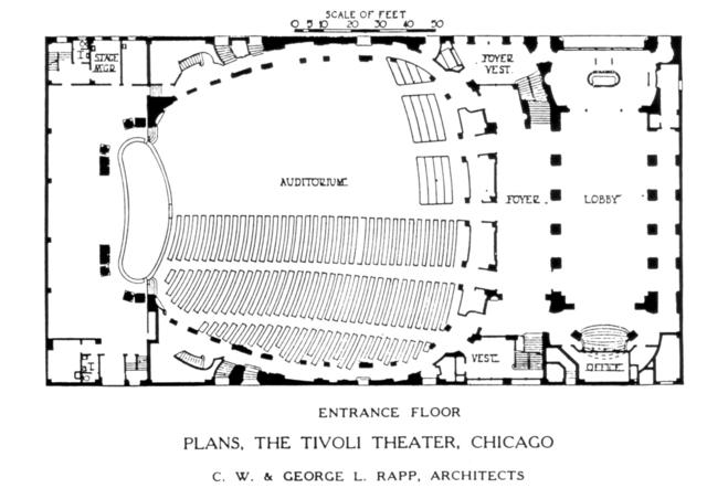 Tivoli Theatre, Chicago - Floor Plan