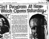The Ohio Theater Opening Saturday March 17, 1928
