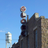 Globe Theatre sign and Bertram Water Tower