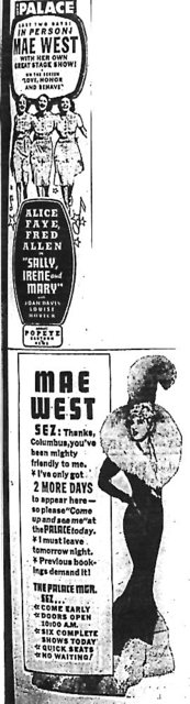 """In Person ! Mae West"""