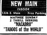 """Macabro""/""Taboos of the World"""