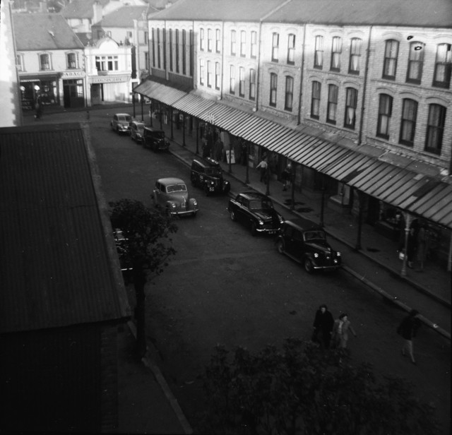 View from Palladium Roof - looking North East up Cardiff Road 1955