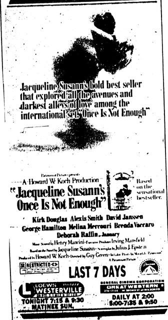 """""""Jacqueline Susann's Once is not Enough"""""""