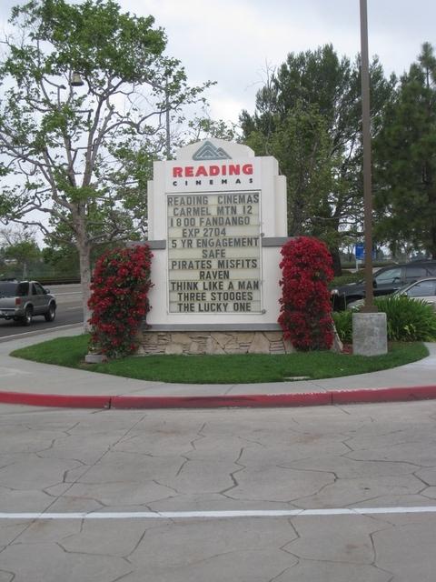 Marquee near Rancho Carmel Drive