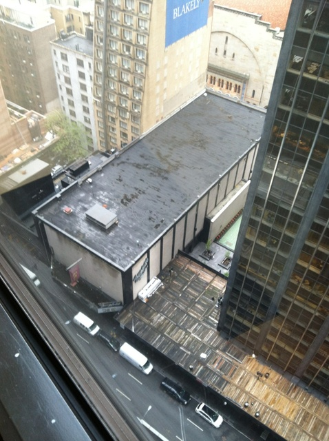 The Ziegfeld as seen from the 22nd floor of the New York Hilton