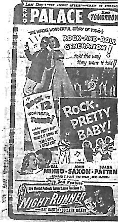 """Rock, Pretty Baby!""/""The Night Runner"""