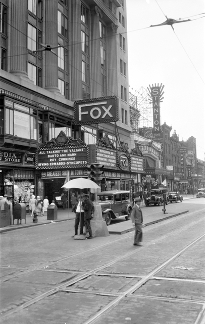 Fox Theatre and Stanton Theatre, Philadelphia, PA - 1929