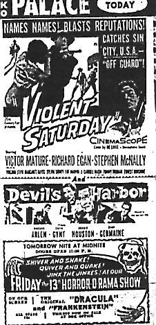 """Violent Saturday""/""Devil's Harbor"""