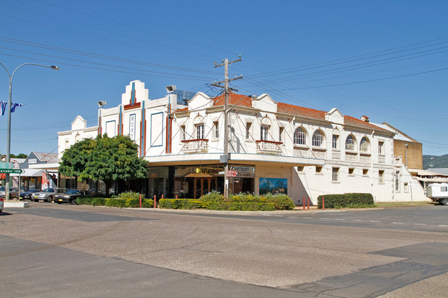 """Roxy"" theatre and ""Peters and Co"" Cafe, Bingara, NSW, Australia"