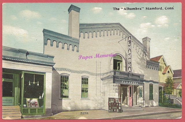 Alhambra Theatre, Stamford CT postcard circa 1910