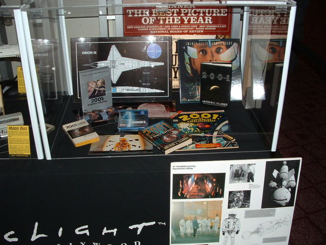 "Exhibits on display in the main Arclight lobby in honor of the 40th anniversary screening of ""2001"" in the Dome, January 30, 2008."