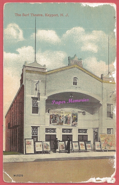 Surf Theatre, Keyport, NJ, postcard, mailed in 1919
