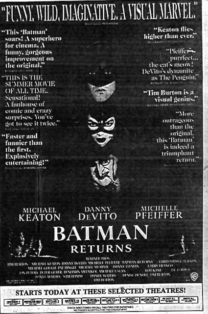 """Batman Returns"""