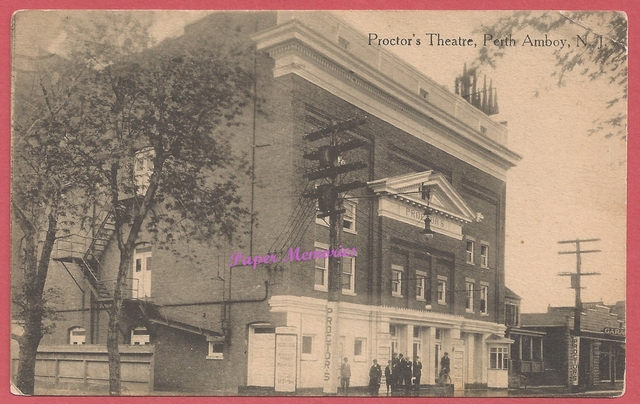 1916 Post card image of Proctor's Theatre, Perth Amboy, N. J.
